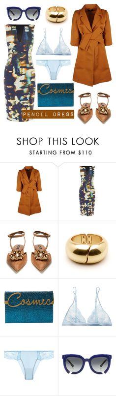 """Pencil Dress"" by ana-amorim ❤ liked on Polyvore featuring Paule Ka, Dolce&Gabbana, Charlotte Olympia, La Perla and Grey Ant"