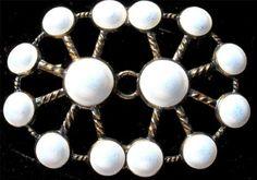White Enamel Sterling Silver Vermeil ANA Man Arne Nordlie Norway Vintage Brooch | eBay