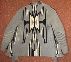 Beautiful Womens Vintage 30's Hand Woven Wool Southwest Chimayo Jacket   eBay