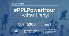 Make sure you enter to win at our #PPLPowerHour Twitter Party. Hosted by @pplelectric , @seemomclick , and @Christina!  #Ad #sweeps