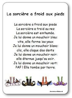 The poetry of the witch who has cold feet Illustrated poetry The witch who has cold feet Halloween Poems, Halloween Activities, Core French, French Class, French Language Lessons, French Lessons, French Poems, Bricolage Halloween, Teaching French