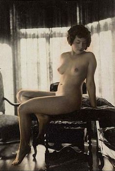 Albert Arthur Allen - Model seated on a table  from The Boudoir Series,  Oakland, California, 1924