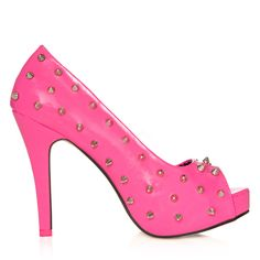 Oh my!  I've got a pink and white skirt that these heels would look grand with!  Avril Lavigne's Abbey Dawn Collection: WTH