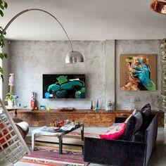 Home tour: uma casa vintage urbano com tijolinho aparente e cimento queimado#!/2014/01/home-tour-uma-casa-vintage-urbano-com.html