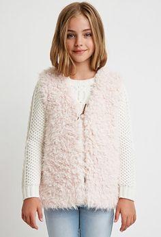 Girls Faux Shearling Vest (Kids) | Forever 21 girls - 2000099189