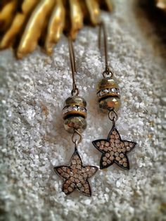 Star Diamond Pave Earrings
