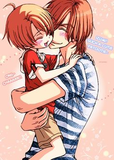 Love Stage!! ~~ Awwwe! Shougo with a chibi Izumi is too cute for words!