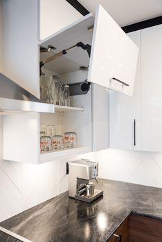 Projet de cuisine, salle à manger, séjour #noirmat #cuisine #salleàmanger #séjour #blanc #bois #design