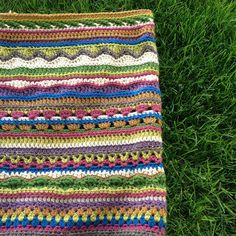 Ravelry: MamaMellie's Mixed Stitch Stripey Blanket