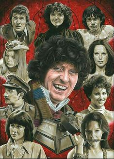 """""""Doctor Who - The Fourth Doctor"""". Painting in acrylics on water colour board by Steve Caldwell. Doctor Who - The Fourth Doctor Doctor Who Fan Art, Doctor Who Tv, Good Doctor, 4th Doctor, Eleventh Doctor, Original Doctor Who, Doctor Who Companions, Classic Doctor Who, Rory Williams"""