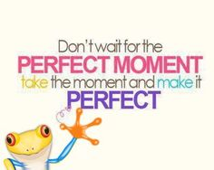 perfect moment frog