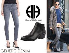 Nicole Richie's Genetic Denim 'Shya' Skinny Jeans And House Of Harlow 1960 'Warner' Booties