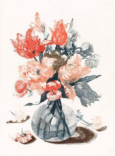 Five Prints of Flowers in Glass Vases, anonymous, after Jean Baptiste Monnoyer, 1688 - 1698 - Rijksmuseum Dutch Artists, Free Illustrations, Illustration Pictures, Botanical Art, Vintage Flowers, Flower Vases, Art Google, Cool Artwork, Wall Art Prints
