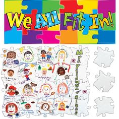 We All Fit together Puzzle Template