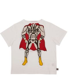 Stella McCartney White Arlo Superhero Print Cotton T-Shirt | Kidswear | Liberty.co.uk