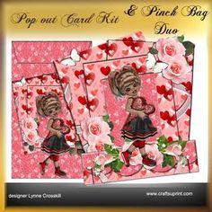 Popout Card & Pinch Bag Duo - Sweet Girl