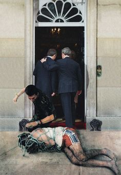 Peter Kennard's Photomontage, recycles news imagery to show the unrevealed truth in political systems.