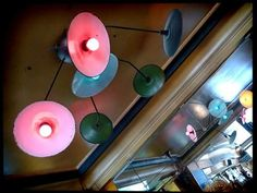 Lighting in Chez Prune. Yum food, noon or night..Canal St. Martin