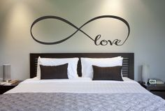Love Infinity Symbol Bedroom Wall Decal Love Bedroom Decor Home Decor Infinity Loop Wall Quote Vinyl Lettering