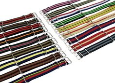 Nylon Fabric Watch Band Straps - Military Army J Crew Timex Weekender 18 20 Ribbon Belt, Military Army, Bulova, Watch Bands, J Crew, Watches, Best Deals, My Style, Fitness