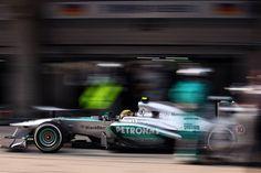 Round 3, UBS Chinese Grand Prix 2013, Race, Lewis Hamilton, Mercedes AMG Petronas F1 Team, Pit Lane Action