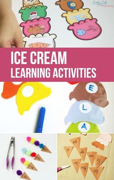 Cool off this summer with these adorable ice cream learning activities that will make learning over the summer tons of fun! Your kids will love these! Who doesn't want ice cream in their home right now? Quiet Toddler Activities, Bubble Activities, Outdoor Activities For Kids, Preschool Learning Activities, Educational Activities, Preschool Ideas, Summer Activities, Numeracy Activities, Preschool Age