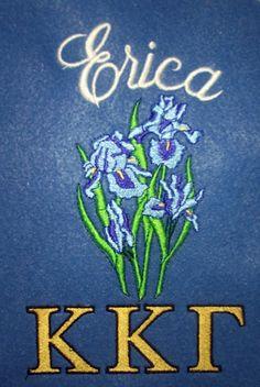 Kappa Kappa Gamma blanket with the sorority flower included
