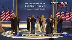 "Service members joined President Donald J. Trump, Vice President Mike Pence and their families on stage for a dance to ""I Will Always Love You"" at the Armed Services Ball."