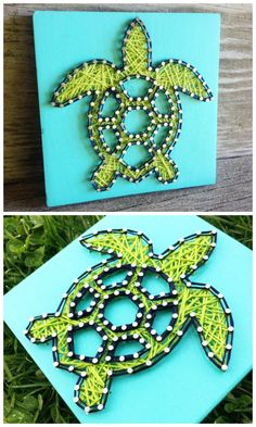 Turtle String Art #ad