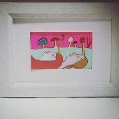 私たちは自然に還る。 #冬虫夏草  #自然 #不思議 #摂理 #人生 #絵画 #幻想 #きのこ #minne  #painting #fantasy #natural  #life #mushroom #forest