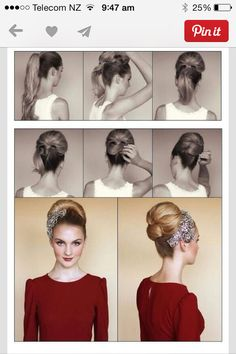 60s updo - great hair - fantastic volume! Simple and quick