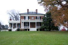 Jan Karon's Virginia estate. . .1816 brick plantation house. . .