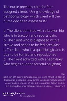 For more free NCLEX practice, check out our daily question of the day. Question Of The Day, This Or That Questions, Nclex Practice Questions, Test Prep, Assessment, Nursing, Knowledge, School, Health