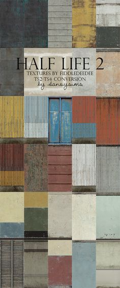 A big collection of rusty, industrial and run-down walls, made originally for TS2 by Fiddledeedee, converted to TS4 by me. In this file there are brick, paint, masonry, wallpaper, paneling and siding categories. I made them into 4 parts and put everything under the paint category making them easy to find. :)Hope you like it!Download
