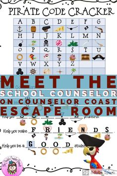 Meet the School Counselor Escape Room Group Counseling, Counseling Activities, Fun Activities, Elementary School Counselor, Elementary Schools, I School, School Ideas, Guidance Lessons, Cooperative Learning
