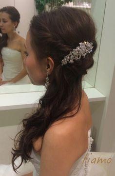 サイドダウンでWedding Party☆美男美女の素敵なお二人 |大人可愛いブライダルヘアメイク『tiamo』の結婚カタログ