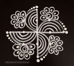 Easy Special Rangoli For Diwali Easy Rangoli Designs Diwali, Rangoli Simple, Simple Rangoli Designs Images, Rangoli Designs Latest, Rangoli Designs Flower, Free Hand Rangoli Design, Rangoli Border Designs, Small Rangoli Design, Rangoli Designs With Dots