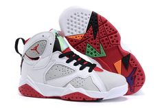 half off 58a11 aa60e Kids Youth Air Jordan 7 VII Hare White Light Silver Tourmaline True Red  Hare 304775 125