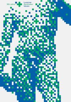 Niklaus Troxler, 2002 - Pharmacists Association of Lucerne Graphic Design Posters, Graphic Design Illustration, Graphic Design Inspiration, Graphic Art, Typography Poster, Typography Design, Bts Design Graphique, Plakat Design, Pixel Design