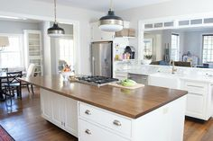 """While the actual title of this post is """"How to Stain and Seal Butcher Block Counters,"""" an alternate title could be """"How NOT To Stain and Seal Butcher Block Counters."""" Because I definitely, definitely did both. So for those of you with butcher block counters of your own, or considering butcher block counters for your...Read More »"""