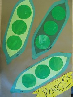 Eat your vegetables day simple peas in a pod craft k for Peas in a pod craft