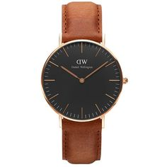 Daniel wellington black durham watch leather rose 36mm ($239) ❤ liked on Polyvore featuring men's fashion, men's jewelry, men's watches, mens leather watches, mens rose gold watches and mens black face watches