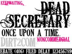 DEAD SECRETARY FONT by KeepWaiting.deviantart.com