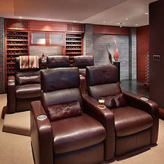 Small Media Room Design Pictures Remodel Decor And