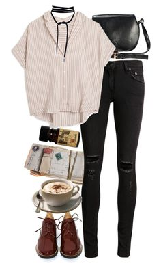 """""""Untitled #9063"""" by nikka-phillips ❤ liked on Polyvore featuring rag & bone/JEAN, MASSCOB and MM6 Maison Margiela"""