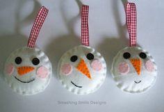 snow men ornaments
