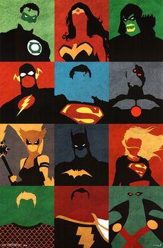Justice League - Minimalist Poster at AllPosters.com