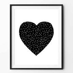 Scandinavian print Heart Wall decor Kids room by Framed Quotes, Wall Art Quotes, Heart Wall Decor, Kids Prints, Scandinavian Interior, Printable Wall Art, Home Art, Printmaking, Decorating Your Home
