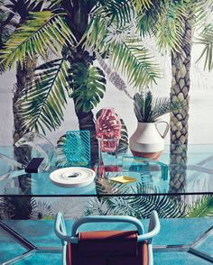 Studio Pepe Palm Springs with Andrea Ferrari for ELLE Decor Italy Elle Decor, Deco Floral, Tropical Style, Christian Lacroix, Home And Deco, Palm Springs, Kitsch, Interior Inspiration, Style Inspiration