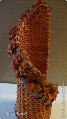 Поделка изделие Плетение Немного наплела Бумага газетная фото 5